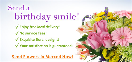 Merced Florist Birthday Flowers Image