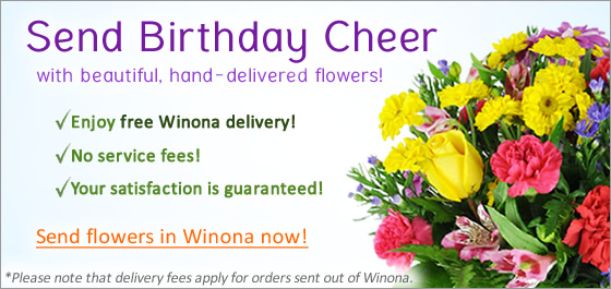 Winona Birthday Flowers Florist Delivery