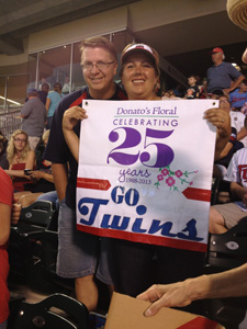 Go Twins! Melanie and Gary are having fun!